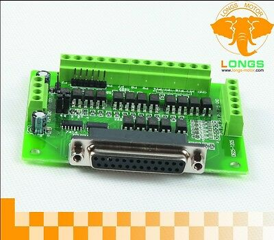 DE ship! 6 Axis DB25 Breakout Board Interface Adapter  +DB25 Cable