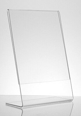 Dazzling Displays 6-pack Acrylic 4 x 6 Slanted Sign Holders