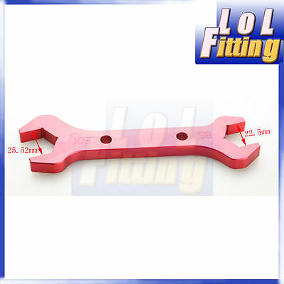 10AN -10 AN10/ 8AN -8 AN8 Double Ended Wrench Spanner CNC Billet Aluminum Red