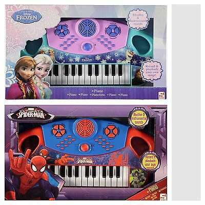 Disney Character Music Makers Toy Piano Spider-Man Frozen Elsa Anna Olaf RRP £30