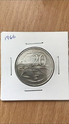 1966 Australian 20 Cent Coin! 51 Years Old!