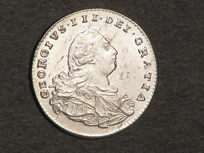 GREAT BRITAIN 1800 1 Penny George III Maundy Silver AU-UNC