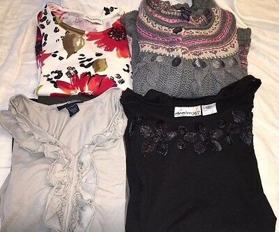 Lot Of 4 Women's Size L 2 Shirts/1 Sweaters New Denim 24/7 1SweaterAlfred Dinner