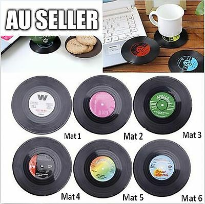 Creative Vinyl Record Cup Glass Drink Coaster Holder Mat Placemat TablewareHome