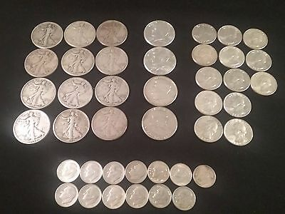 Lot of 42 Coins Mixed lots of 90% Silver