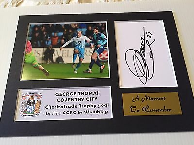SIGNED COVENTRY CITY FC GEORGE THOMAS MOUNT Wembley bound EFL Trophy FINAL