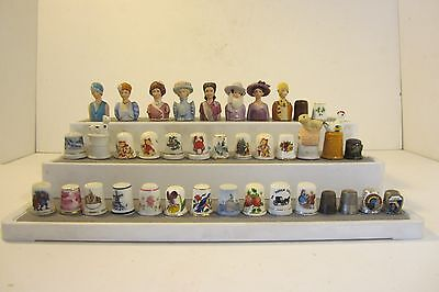 Lot of 38 Assorted Collectible Thimbles