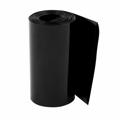 85mm Flat Width 10M Length PVC Heat Shrink Tube Black for 18650 Battery Pack