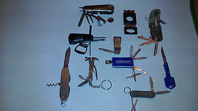 10 Pc. Lot Vintage& Modern Knives,multi-Tools,clips, Golf Tools