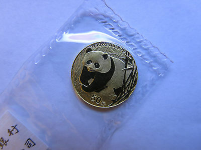 2002 1/10 oz Gold Panda 50 yuan China Chinese Panda Coin Sealed