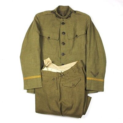 Officers Od Wool Service Coat Tunic W/ Breeches - Cavalry Regiment Cav