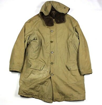 Original Wwii Us Army Winter Parka Arctic Cold Weather - Alpaca Lined Hood 1941