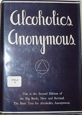 Alcoholics Anonymous Big Book, 2nd Edition, 7th Printing 1965 HB Dust Jacket