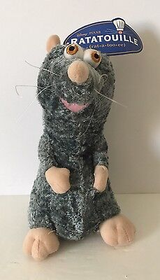 Disney Pixar Toy Factory Ratatouille Remy Plush Toy Mouse Rat With Tag Gray