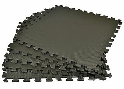 1- 36pc Interlocking Eva Foam Mat Nursery Play Mat Garage Home Flooring Tiles