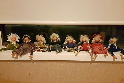 Garden Fairy Gypsy Doll set - 8 in total - adult collectible
