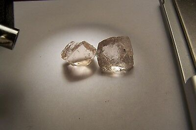 Topaz Crystals Raw Natural Rough 67 tcw clear facet 2 pieces Shigar Pakistan