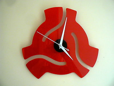 45 Rpm Record Adapter Wall Clock  Elvis Collectors-- Man Cave -- Music Room