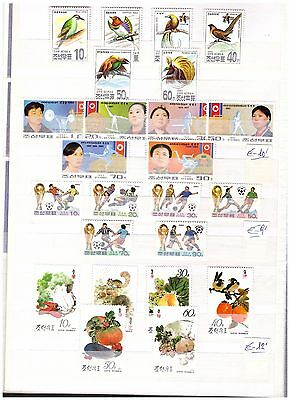s14514) KOREA 1993 MNH** Birds Sport WC Soccer Vegetables 24v