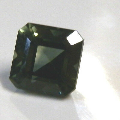 Natural earthmined green/yellow sapphire square gemstone...1.49 carat gem