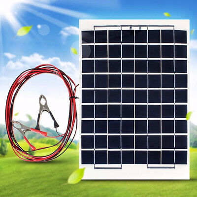 10W Car Boat Camp 4M Cable 12V Cell Solar Power Panel Module Battery Charger