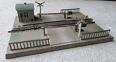 Marklin OO Guage Level Crossing Train Track - Metal - Made In Germany
