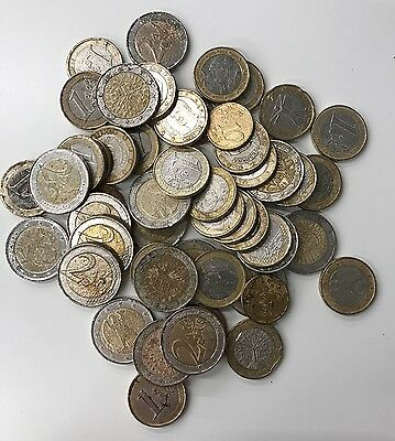 €65.60 Damaged Euro Coins - Suitable For Holidays... (821)