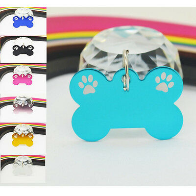 Custom Bone Dog Cat Pet Tag One Side ID Charm Tags Can Engraved Yourself New