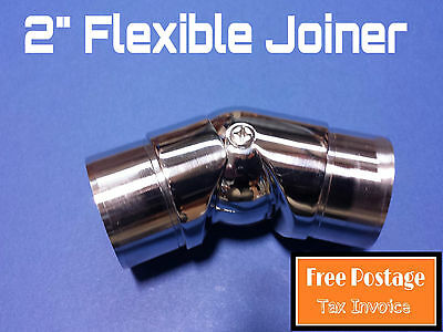 "FLEXIBLE JOINER 316 STAINLESS STEEL TUBE CONNECTOR 50.8mm FITTING 2"" HANDRAIL"