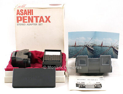 Stereo Set with Print & Slide 3D Viewers. For 49mm Thread Pentax or Olympus Lens