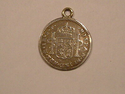 Spanish 1 real silver coin