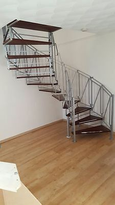 -  Metal Spiral Staircase Wooden Tread  -
