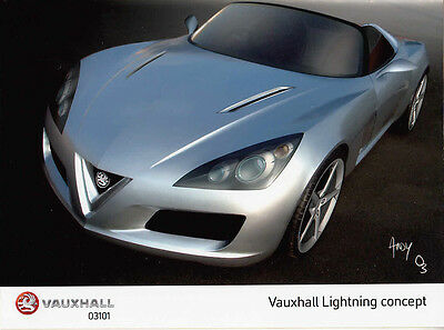 Vauxhall Lightning Concept Two Period Colour Photographs & Three News Sheets. .