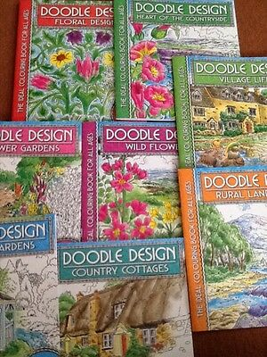 Doodle Designs Colouring in book bundle x 8 - New