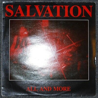"SALVATION  ALL AND MORE  ORIGINAL UK 12"" 45rpm SINGLE  EXCELLENT VINYL"