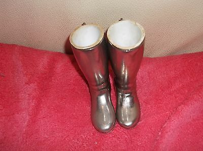 Vintage Pair Silver Plated Grenadier Stirrup Cup Riding Boots