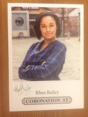 "Rhea Bailey Coronation Street Pre-Printed Signature Cast Card 6"" X 4""."