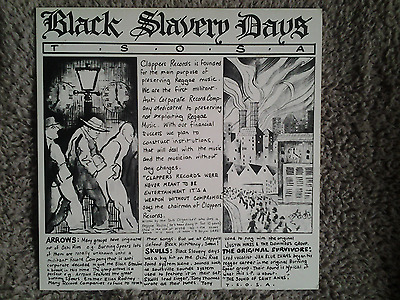 Black Slavery Days Clappers LP skulls arrows CLASSIC!!! Reggae Dub Roots