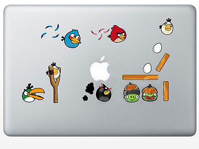 ANGRY BIRDS Laptop Vinyl Sticker Decal for MacBook or PC Laptop