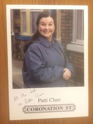 "Patti Clare Coronation Street Pre-Printed Signature Cast Card 6"" X 4""."