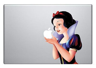 SNOW WHITE [Holding Apple] Laptop Vinyl Sticker Decal MacBook 17""