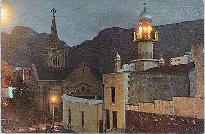 Cape Town, South Africa - Lutheran Church & Malay Mosque - postcard c.1970s