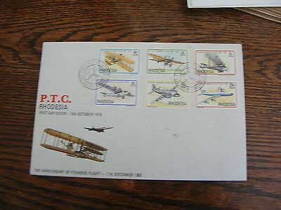 RHODESIA FDC  75th ANNIVERSARY OF POWERED FLIGHT     18th OCTOBER  1978