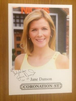 "Jane Danson Coronation Street Pre-Printed Signature Cast Card 6"" X 4""."