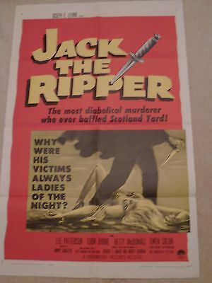 JACK THE RIPPER - ORIGINAL - US ONE SHEET POSTER 1960  cinema poster