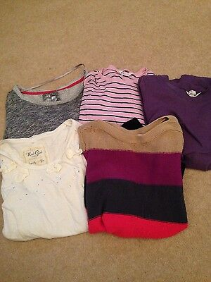 bundle of girls clothes age 10-12 years h and m next long sleeve tops jumpers