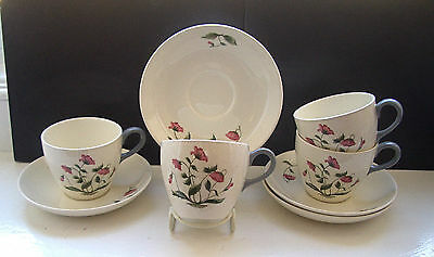 Vintage Wedgwood Barlaston Mayfield 4 x Cups & Saucers
