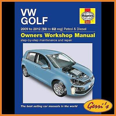 5633 Haynes VW Golf Petrol & Diesel (2009 - 2012) 58 to 62 Workshop Manual