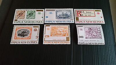 Papua New Guinea  1973 Sg 260-265 75Th Anniv Of Stamps .mnh