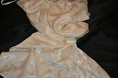 """m&s""retro Petticoat Ivory Floral Print Satin Lacy Trims Silky&feminine Lovely"